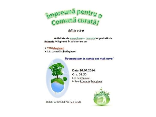 IMPREUNA PENTRU O COMUNA CURATA   26.04.2014